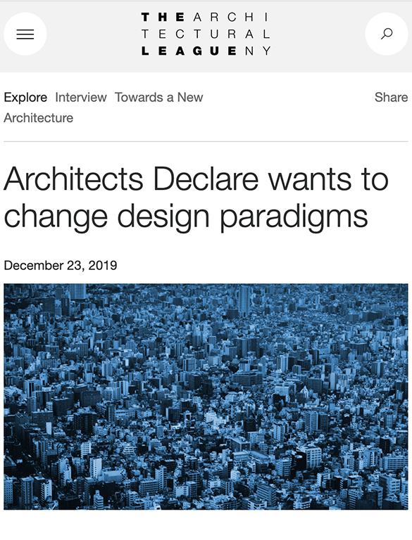 Architects Declare wants to change design paradigms