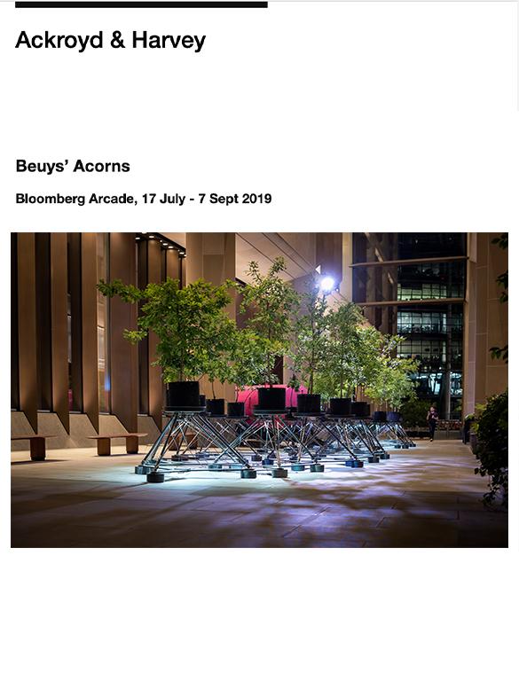 Ackroyd & Harvey : Beuy's Acorns @ Bloomberg