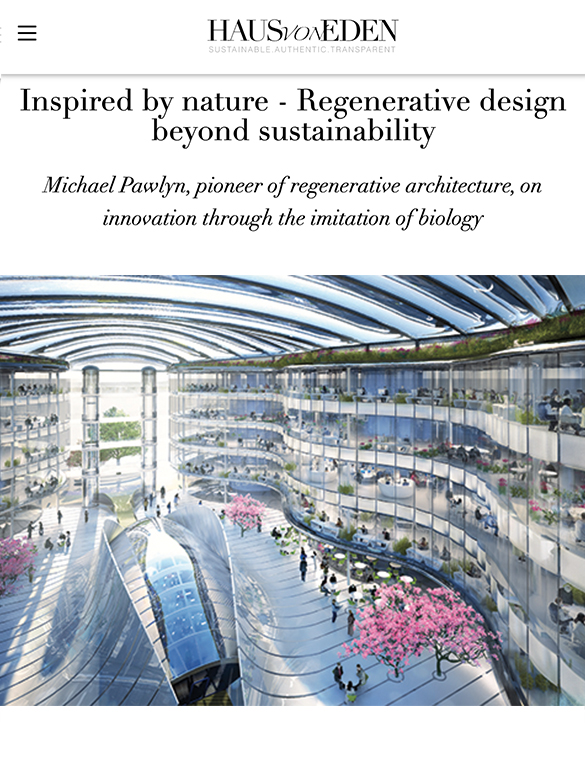 Inspired by nature - Regenerative design beyond sustainability